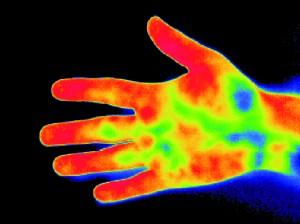 Dłoń o zrównoważonej temperaturze